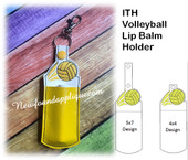 In The Hoop Volley Ball Lip Balm Holder EMbroidery Machine Design