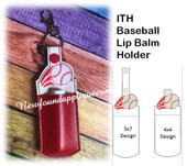 In The Hoop Baseball Lip Balm Holder Embroidery Machine Design