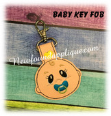 In The Hoop Baby Key Fob  EMbroidery Machine Design