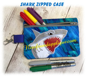 In The Hoop Shark Zipped Case Embroidery Machine Design