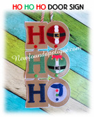 In The Hoop HO HO HO Embroidery Machine Door Size for 5x7 Hoop