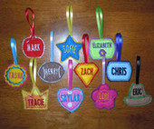 Lunch Box Name Tag Set