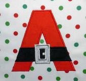 Santa Belt Alphabet