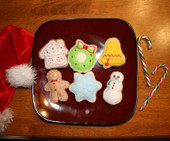 Stuffed Christmas Cookie Felt Food Set