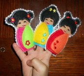 Geisha Girl Finger Puppet Set