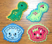 Dinosaur Felt Bits and Pieces