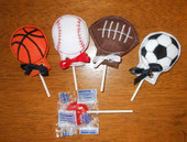 Sports Ball Lollipop Holder Set