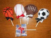 Sports Ball Lollipop Holder Set