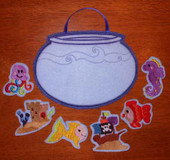 Fish Bowl Felt board Tote Set