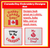 CANADA Day Embroidery Design Set