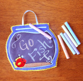 Fish Bowl Chalk Board Tote ITH