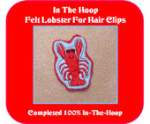 Felt Lobster for Hair Clips