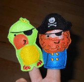 Pirate Finger Puppet ITH Set