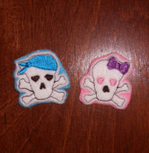 Felt Skull Bits and Pieces