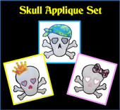 Skull Applique Set