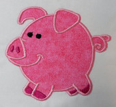 Chubby Animals Pig Applique
