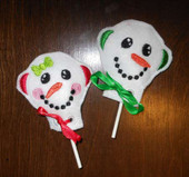 Snowman Lollipop Holder In the Hoop Set