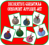 Decorative Christmas ball Applique Set