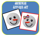 Snowman Face Applique Set