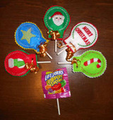 Christmas Lollipop Holder In the Hoop Design Set