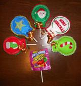 Christmas Lollipop Holder In the Hoop Design Set