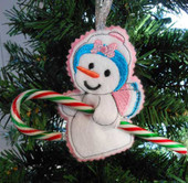 Snowman Candy Cane Holder Ornament Design Set