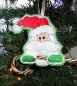 Santa Candy Cane Holder Ornament Design
