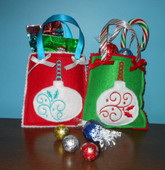 Christmas Ornament Gift Bag Design Set