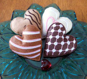 Felt Heart Cookies In the Hoop Design Set