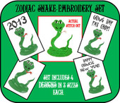 Zodiac Snake Embroidery Set
