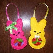 Easter Bunny Candy Pocket In the Hoop Design