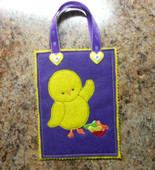 Easter Chick Treat Bag in the Hoop Design