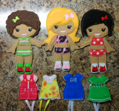 IN The Hoop Felt Dress Up BFF Dolls