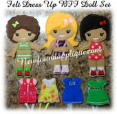IN The Hoop Felt Dress Up BFF Dolls