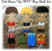 Felt Dress Up Boy BFF Doll Design Set