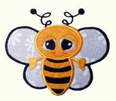 Springtime Buggin Bubble Bee Applique