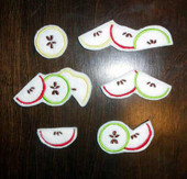 Felt Apple Slice Bits and Pieces Design Set