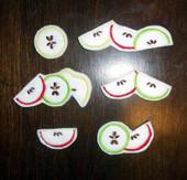 Felt Apple Slice Bits and Pieces Design Set