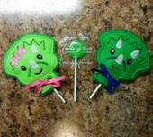 In The Hoop Dino Lollipop Holder Set