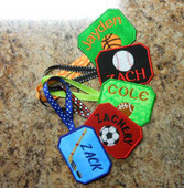 Bag Tag Sports In the Hoop Design Set