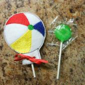 Beach Ball Lollipop Holder Design