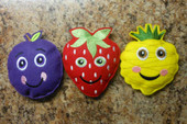 In The Hoop Smiling Fruit 2 Beanbag Embroidery Machine Design Set