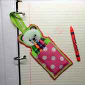 Panda Crayon Pouch In the Hoop design
