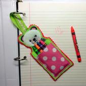 Panda Crayon Pouch In the Hoop design