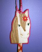 ITH Horse Bow Holder Embroidery Machine Design