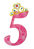 Tiara Numbers Applique Set