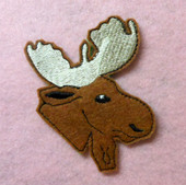 In The Hoop Moose Feltie Embroidery Machine Design