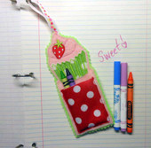 Strawberry Cupcake Crayon & Marker Pouch design