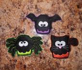 In The Hoop Halloween Feltie Set 2 Embroidery Machine Design Set