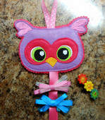 In The Hoop Owl Bow Holder Embroidery Machine Design